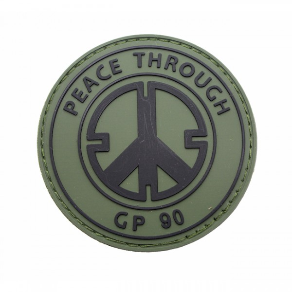 Pitchfork Peace Through GP90 Patch - Olive