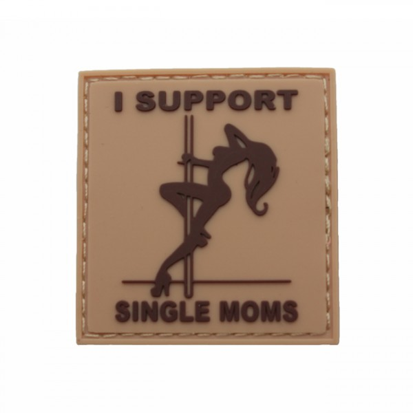 Pitchfork Single Moms Patch - Tan