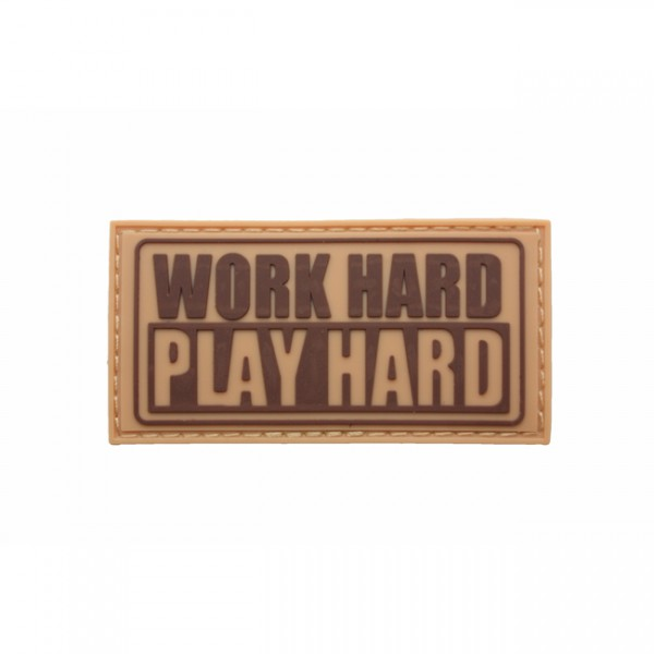 Pitchfork Work Hard Patch - Tan