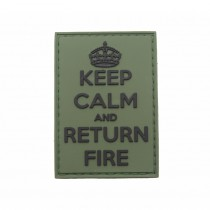 Pitchfork Keep Calm Return Fire Patch - Olive