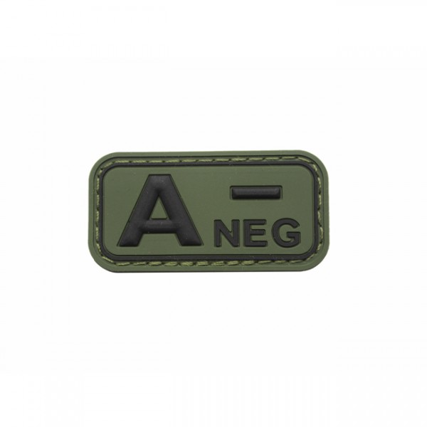 Pitchfork Blood Type A NEG Patch - Olive
