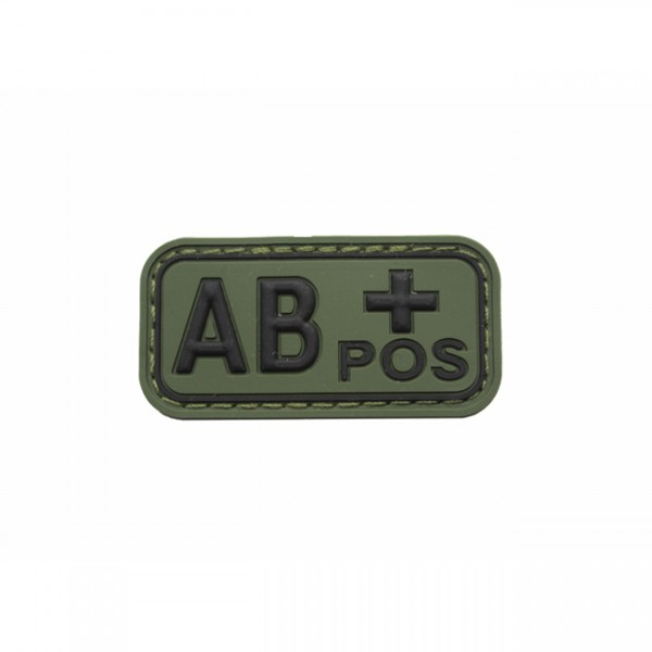 Pitchfork Blood Type AB POS Patch - Olive