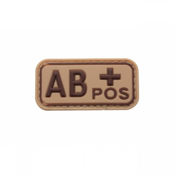 Pitchfork Blood Type AB POS Patch - Tan