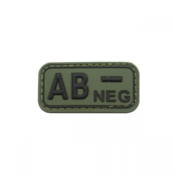 Pitchfork Blood Type AB NEG Patch - Olive