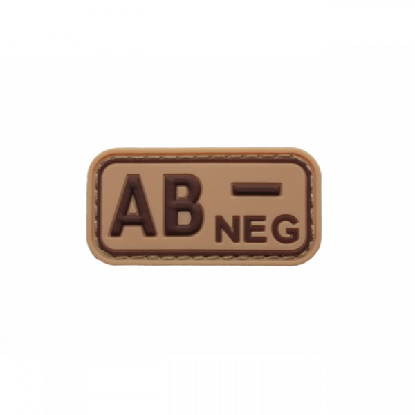 Pitchfork Blood Type AB NEG Patch - Tan