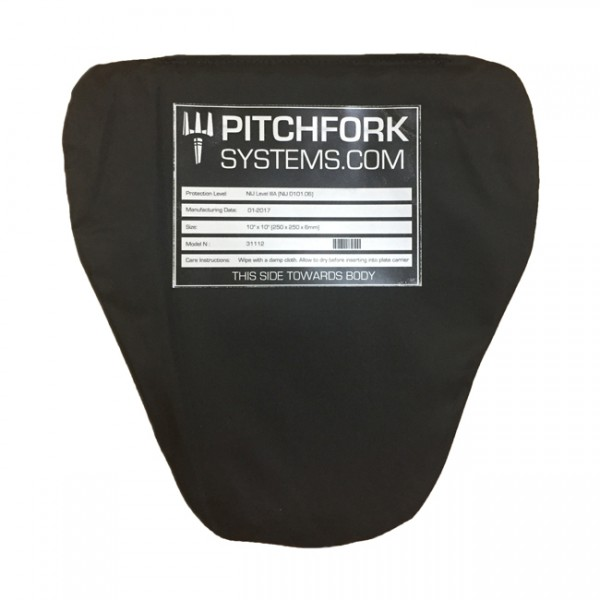 Pitchfork NIJ Level IIIA Groin Protector Soft Armour Plate