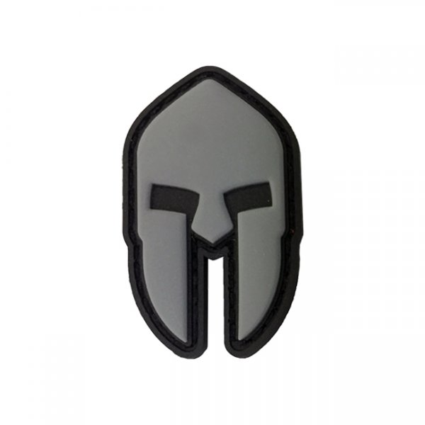 Pitchfork Spartan Helmet Patch - Grey