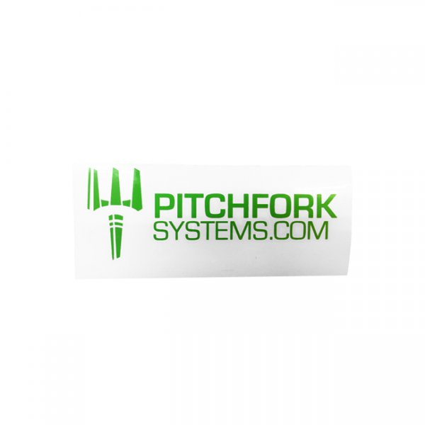 Pitchfork The Brand Sticker Small - Zombie Green