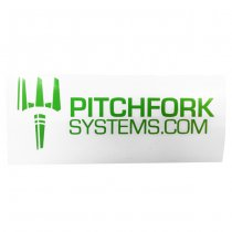 Pitchfork The Brand Sticker Large - Zombie Green