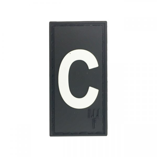 Pitchfork Letter C Patch - Black