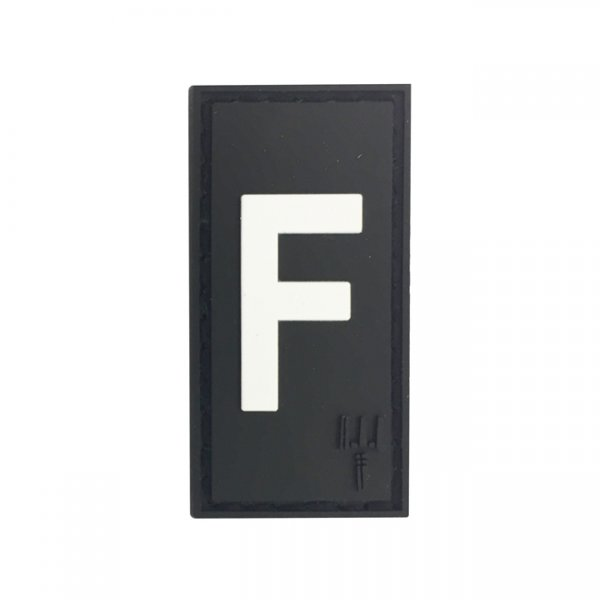 Pitchfork Letter F Patch - Black