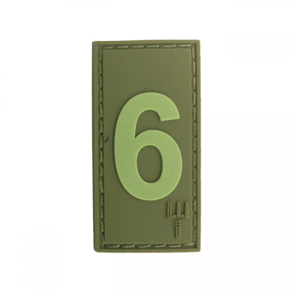 Pitchfork Number 6 Patch - Olive