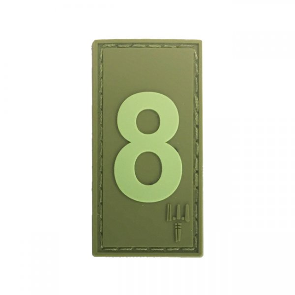 Pitchfork Number 8 Patch - Olive