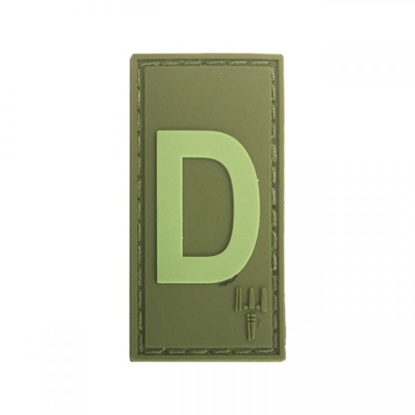 Pitchfork Letter D Patch - Olive