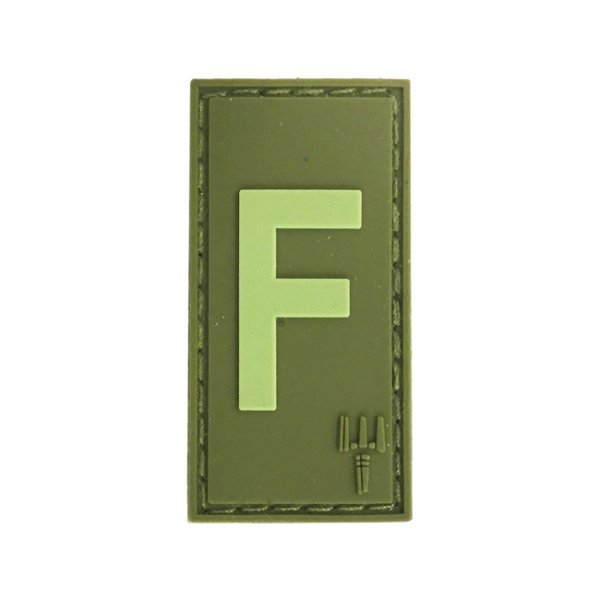 Pitchfork Letter F Patch - Olive