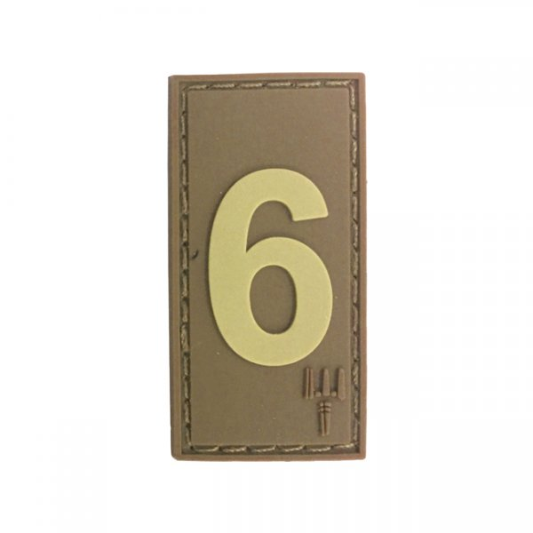 Pitchfork Number 6 Patch - Tan