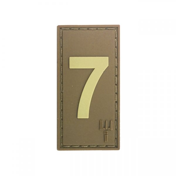 Pitchfork Number 7 Patch - Tan