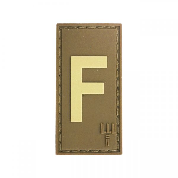 Pitchfork Letter F Patch - Tan