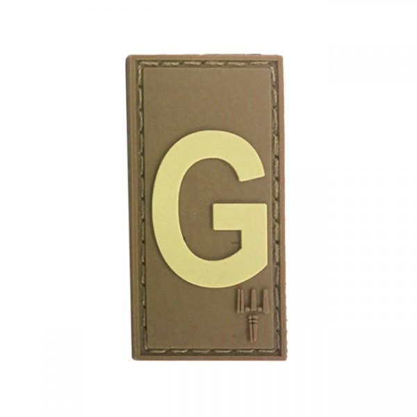 Pitchfork Letter G Patch - Tan