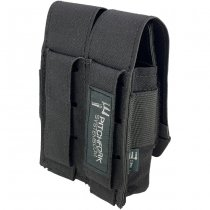 Pitchfork Closed Double Pistol Magazine Pouch - Black