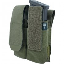 Pitchfork Closed Double Pistol Magazine Pouch - Ranger Green