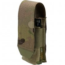 Pitchfork Closed Single Pistol Magazine Pouch - Multicam