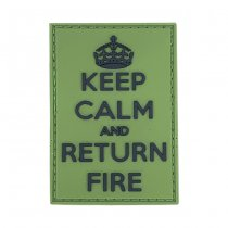 Pitchfork Keep Calm Return Fire Patch - Green
