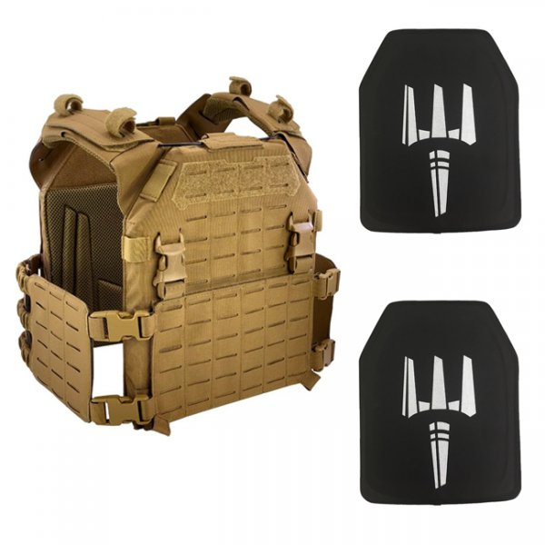 Pitchfork MPC Modular Plate Carrier NIJ Level IV Package - Coyote