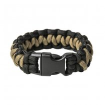 Pitchfork Paracord Bracelet Buckle - Black / Tan L