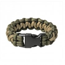 Pitchfork Paracord Bracelet Buckle - Olive / Tan M