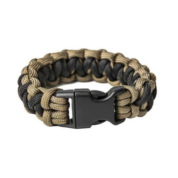Pitchfork Paracord Bracelet Buckle - Coyote / Black M