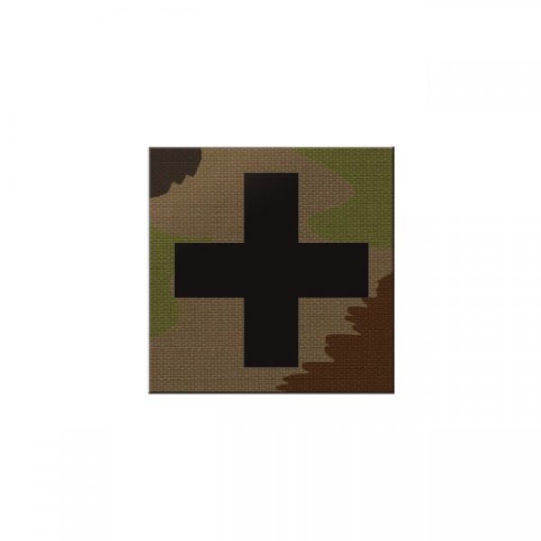 Pitchfork Medic Cross IR Square Print Patch - SwissCamo