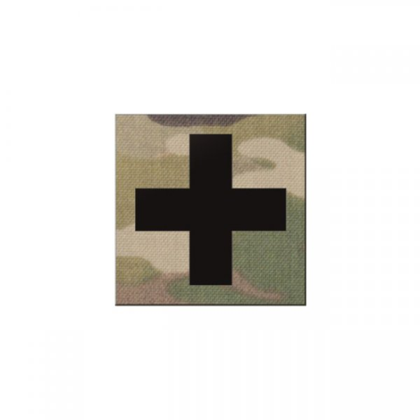 Pitchfork Medic Cross IR Square Print Patch - Multicam