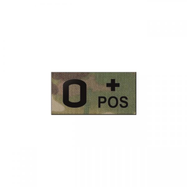 Pitchfork O POS Blood Type IR Patch - Multicam