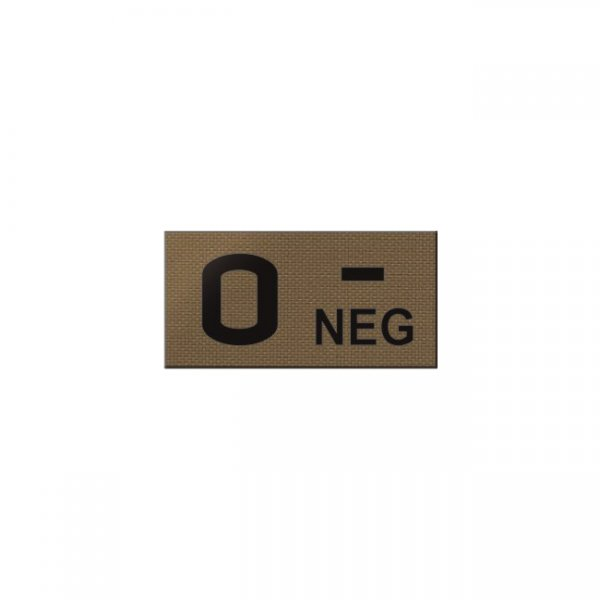 Pitchfork O NEG Blood Type IR Patch - Coyote