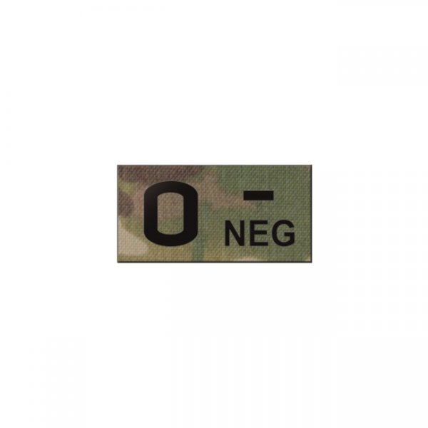 Pitchfork O NEG Blood Type IR Patch - Multicam