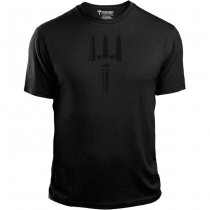 Pitchfork Casual T-Shirt Black Print - Black