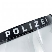 Pitchfork POLIZIA Reflective Face Shield Sticker - Black